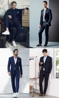 5 New Ways To Wear A Suit : 4. Suits & Sneakers Lookbook Inspiration