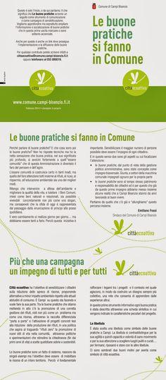 Logo e locandina per Comune di Campi Bisenzio Firenze  • Graphic designer Sonia Squilloni 2013/14