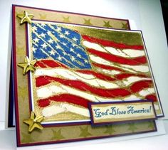 "Stamps: ""God Bless America"" and ""American Flag,"" both by Our Daily Bread Designs"