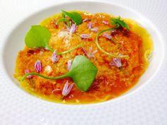 Ravioles de Ricotta aux crevettes grises, sauce provençale et parmesan