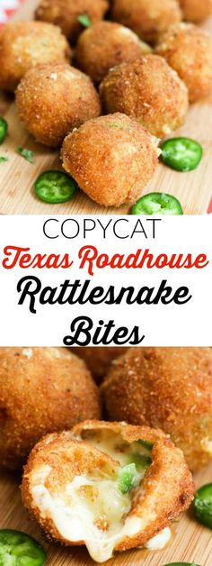 Delicious cheese and jalapenos are combined, battered and deep fried until melty and golden with this copycat recipe for Texas Roadhouse Rattlesnake Bites. This appetizer recipe from Tornadough Alli makes a delicious snack or game day food!