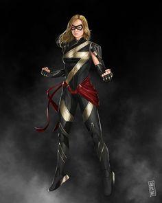 MCU Miss Marvel (Carol Danvers) costume by Jao Picart Marvel Comic Universe, Marvel Comics Art, Marvel Films, Marvel Characters, Marvel Logo, Superhero Villains, Fictional Characters, Ms Marvel Captain Marvel, Captain Marvel Carol Danvers