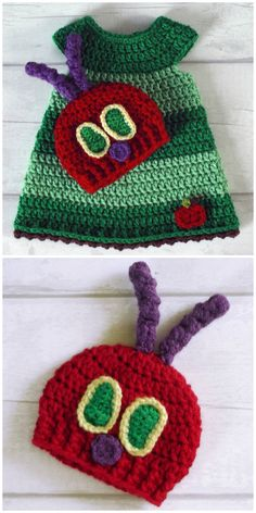 Hungry Caterpillar Crochet Pattern Ideas You'll Love Hungry Caterpillar Crochet Ideas You Will Adore Knitting works include the time when ladies spend their free time, when . Love Crochet, Crochet For Kids, Vintage Crochet, Crochet Hooks, Knit Crochet, Booties Crochet, Crochet Granny, Crochet Baby Costumes, Crochet Baby Clothes