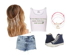 """""""Hippie day"""" by belu7c on Polyvore featuring Forever 21, Topshop, Converse and Monsoon"""