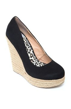 Glow-S Espadr Suede Closed Toe Wedge