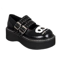 Skull Head Mary Jane Shoes. Any NCIS Abby fans out there?  These look like something Abby would wear.