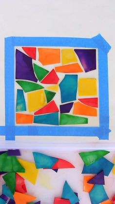 Use colored lasagna noodles to create faux stained glass art! Pasta Crafts, Vbs Crafts, Diy Crafts For Kids, Craft Ideas, Preschool Painting, Grade 1 Art, Curious Kids, Faux Stained Glass, Happy Kids