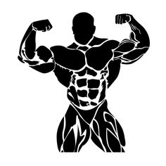 bodybuilding, fitness, vector by Sunshine on Creative Market Bodybuilding Logo, Bodybuilding Workouts, Bodybuilder, Human Icon, Gym Logo, Best Gym, Image Hd, Powerlifting, No Equipment Workout