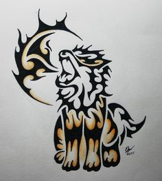 Tribal Arcanine commission by Esmeekramer on DeviantArt