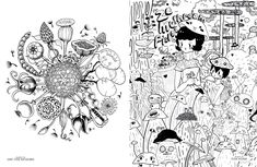 Buy Doodlers Anonymous Epic Coloring Book An Extraordinary Mashup Of Doodles And Drawings Begging To