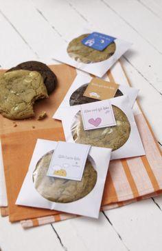 cookies packaged in CD sleeves