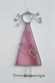 Stained glass angel by cornelia