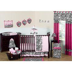 Sweet Jojo Designs Zebra Pink Collection 11-Piece Baby Crib Bedding Set - Sweet Jojo Designs - Babies