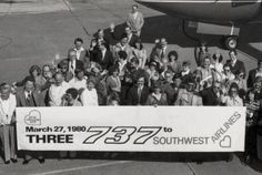 It's #FlashbackFriday - Taking delivery of new 737-200s in March 1980!