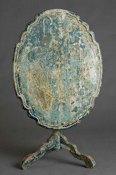 antique folding table - beautiful patina