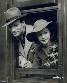 Vivien Leigh and Laurence Olivier <3