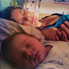 Jente and me sleeping