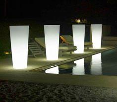 eclairage-piscine-Pot-lumineux-jardiniere - Decoration maison, Idees deco interieur, astuces et peinture