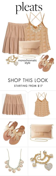 """Pleats and More Pleats Please"" by shamrockclover ❤ liked on Polyvore featuring Madewell, RVCA, Charlotte Russe and Palm Beach Jewelry"