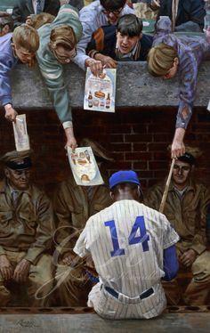 "Painting of Mr. Cub, Ernie Banks: ""Far From Albuquerque"" by Graig Kreindler"
