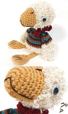 Amigurumi duck. (Free crochet toy pattern).