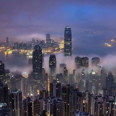 Night life at Hong Kong