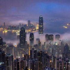 Night life at Hong Kong