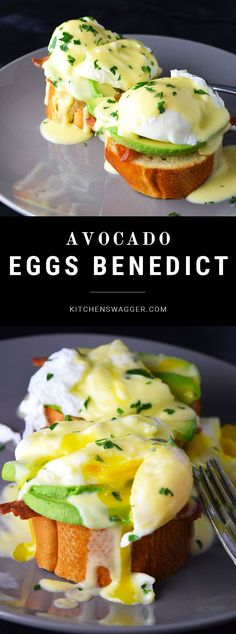 Benedict with Avocado Delicious eggs benedict served on avocado slices, bacon, and french bread.Delicious eggs benedict served on avocado slices, bacon, and french bread. Breakfast And Brunch, Breakfast Dishes, Breakfast Ideas, Brunch Ideas, Breakfast Egg Recipes, Toast Ideas, Diet Breakfast, Avocado Recipes, Healthy Recipes