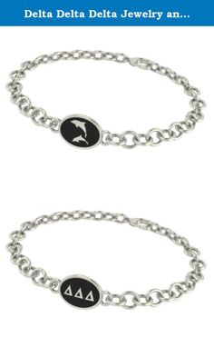 Delta Delta Delta Jewelry and Silver Bracelets. Our Delta Delta Delta sorority jewelry and bracelets are made in solid sterling silver with a high quality sterling silver Antiqued charm. Our bracelets have the finest detail and are the highest quality of any Delta Delta Delta sorority bracelet available. In stock for fast shipping and if for some reason you don't like it? Send the bracelet back for a full refund..... Delta Delta Delta Silver Jewelry - Silver Link Bracelet.... Metal…