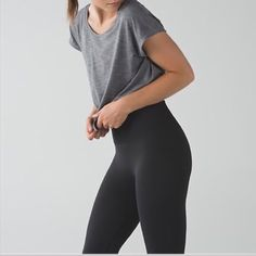 Lululemon zone in tight cropped leggings brand new with tags :) size 4, color is black. any questions just ask lululemon athletica Pants Leggings