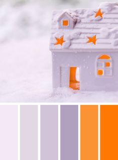 lavender and orange color inspiration