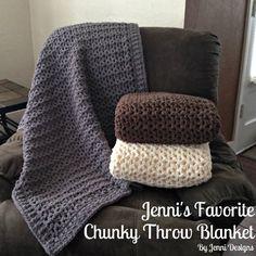 Jenni's Favorite Chunky Throw Blanket - Free Pattern