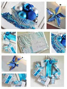Crafty blue, white & silver Christmas decorations