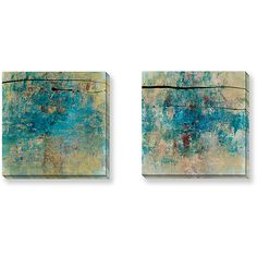 Certain to inspire thoughtful conversation, this 'By Chance' Bellows canvas print set includes two beautifully rendered giclee method paintings presented on gallery wrapped canvas. Each generously sized print measures 24 inches square.