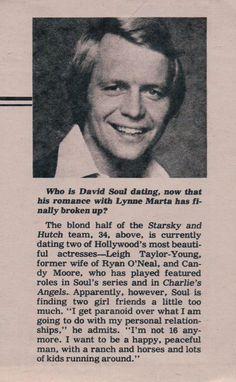 Salem Lot, Paul Michael Glaser, David Soul, Starsky & Hutch, Star Sky, Supernatural, Fangirl, Love You, Husband