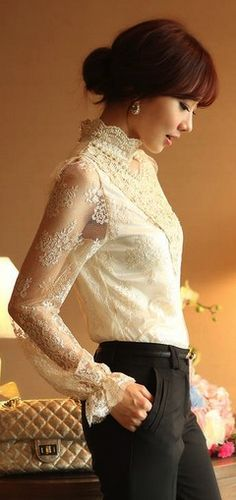 Elegant lace blouse