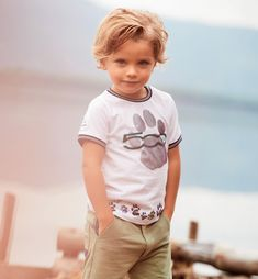 T-shirt For Boys 6 - 36 Months, made with organic cotton, with short sleeves and a 3D printed Paw.This T-shirt Is Part Of The Capsulle Collection, made in collaboration with FCA, Specially Created To Raise Awareness For Our Enviorment - Annebebe - Sarabanda Italia Organic Cotton T Shirts, Laura Biagiotti, Collaboration, Baby Boy, Short Sleeves, Hipster, 3d, Printed, Boys