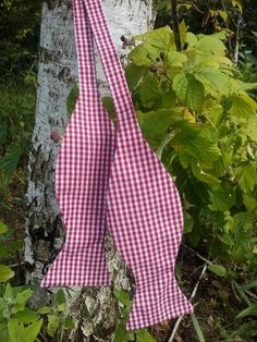 Mens bow tie Red Gingham Wedding Bowtie Tie Mens by accessories482