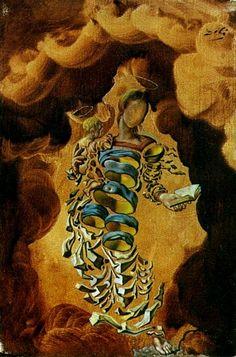Salvador Dali  Madonna en las partículas de 1952     (oleo, obra de arte, reproducción, copia, pintura).