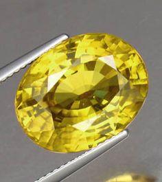 15.17ct Yellow Ceylon Zircon