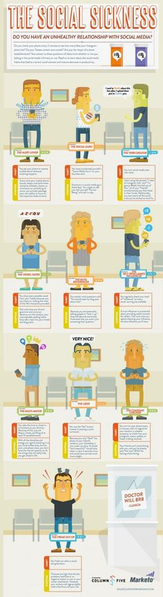 The Social Sickness: Das ungesunde Verhältnis zu Social Media #Infografik
