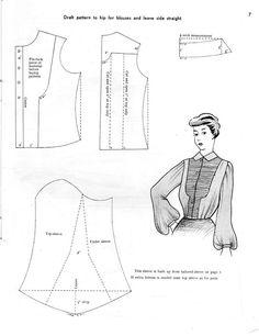 1950s https://wkdesigner.wordpress.com/2008/10/05/ruffled-top/