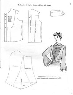 1950s https://wkdesigner.wordpress.com/2008/10/05/ruffled-top/
