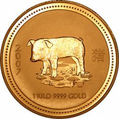 Reverse of One Kilo Gold Boar Coin