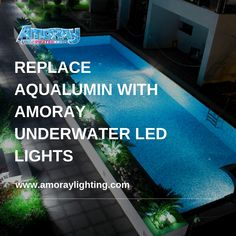 These high-quality Nicheless LED Underwater Lights are Corrosion free,Waterproof & to be used for Pools,Ponds,Lakes,Fountains Inground Pool Lights, Underwater Led Lights, Pond, Fountain, Lighting, Outdoor Decor, Water Pond, Water Fountains, Lights