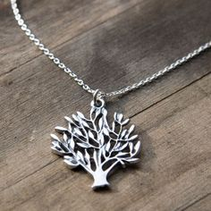 Tree of Life Necklace // Rustic Solid Sterling Silver Necklace // Nature Inspired Jewelry.