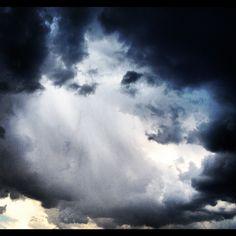 Storm passing over Showa-cho, Yamanashi, Japan.