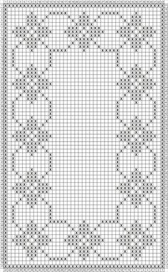Easy Cross Stitch Patterns, Small Cross Stitch, Cross Stitch Heart, Cross Stitch Borders, Cross Stitch Flowers, Cross Stitch Designs, Crochet Table Runner Pattern, Crochet Tablecloth, Filet Crochet Charts