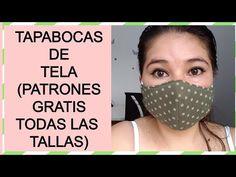 tapabocas de tela patrones gratis - YouTube Sewing Tutorials, Sewing Crafts, Sewing Projects, Sewing Patterns, Easy Face Masks, Diy Face Mask, Pocket Pattern, Tapas, Diy Mask