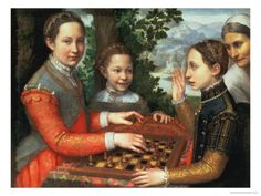 Game of Chess, 1555 Giclee Print by Sofonisba Anguisciola at Art.com